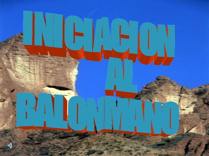 INICIACION  AL BALONMANO