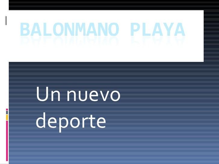 Balonmano Playa