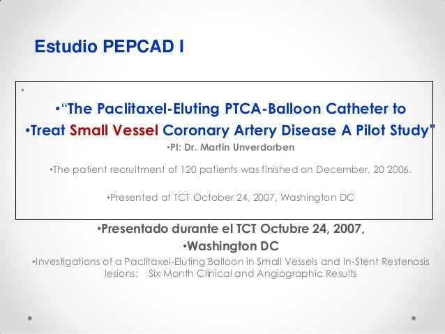 Paclitaxel stent restenosis study