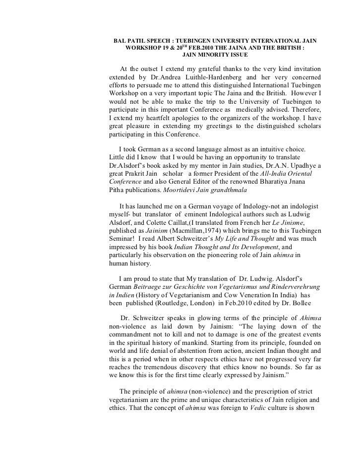 Bal Patil speech  Tuebingen University International Jain Worshop 19  20 th Feb.20Jaina and the British