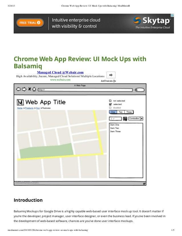 Balsamiq chrome web app review  ui mock ups with balsamiq - mod_monstr