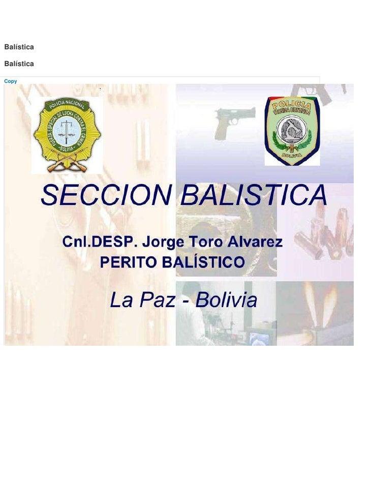 BalísticaBalísticaCopy