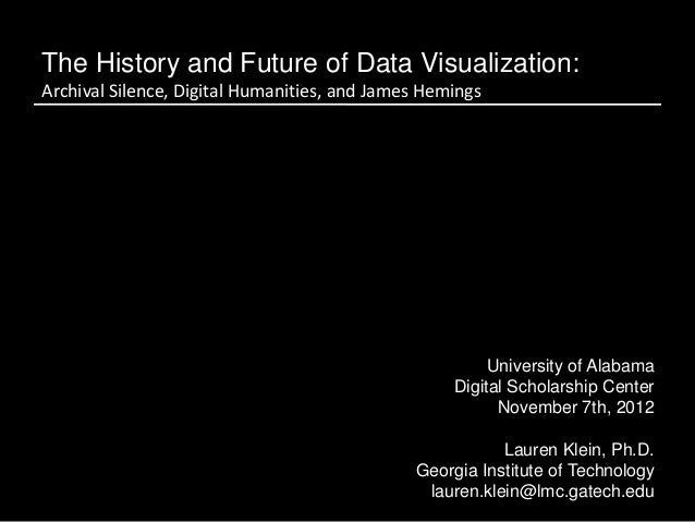 The History and Future of Data Visualization:Archival Silence, Digital Humanities, and James Hemings                      ...