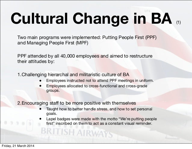 Change management british airways