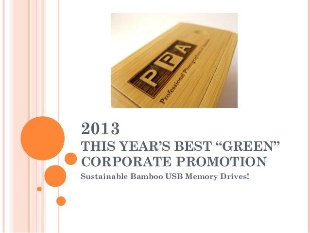 Bamboo USB flash drives