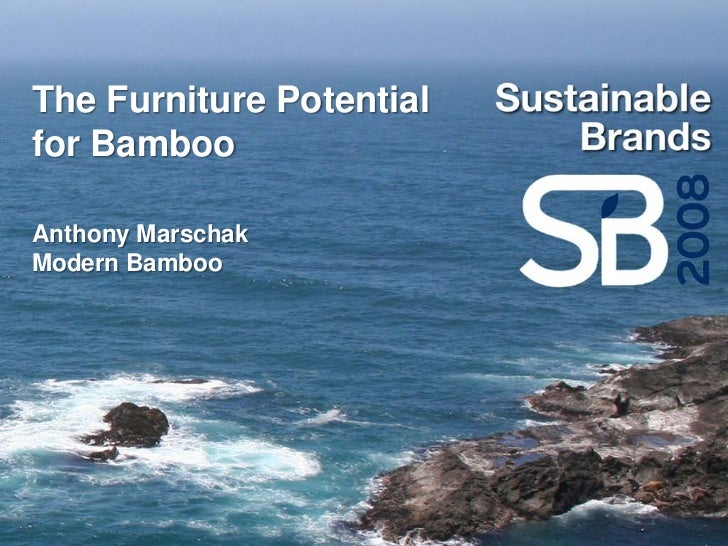 The Furniture Potential for Bamboo  Anthony Marschak Modern Bamboo