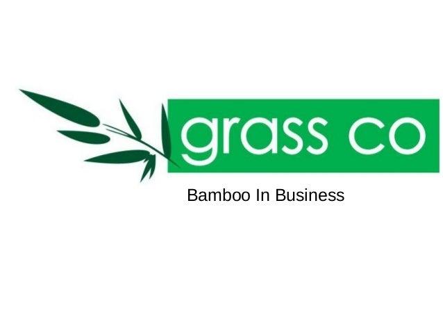 Negocios con Bambú
