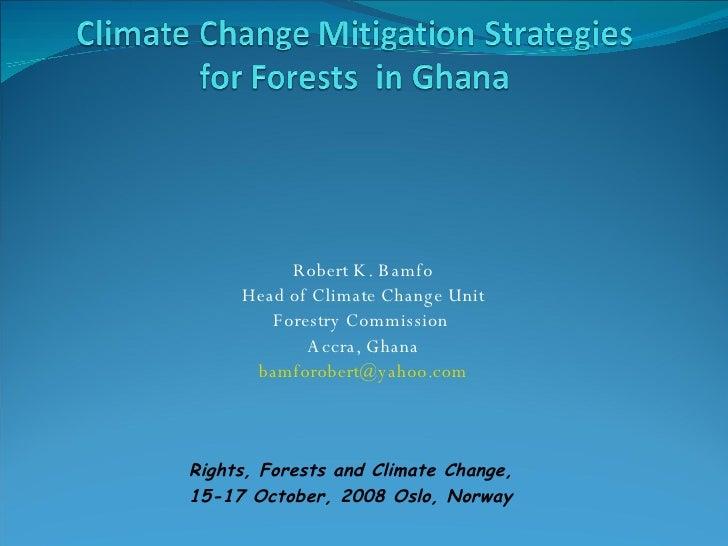 National REDD strategy Ghana