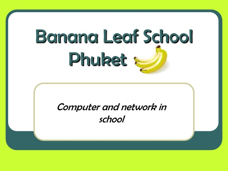 Banana leaf school