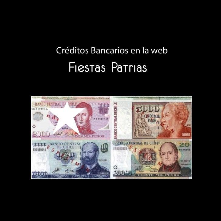 Créditos Bancarios en la web    Fiestas Patrias