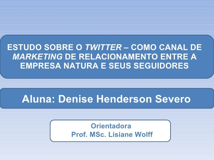 Banca Denise H Severo Marketing