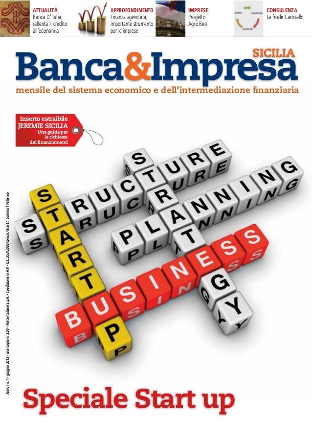 Speciale Startup di Banca&impresa - Giugno2013