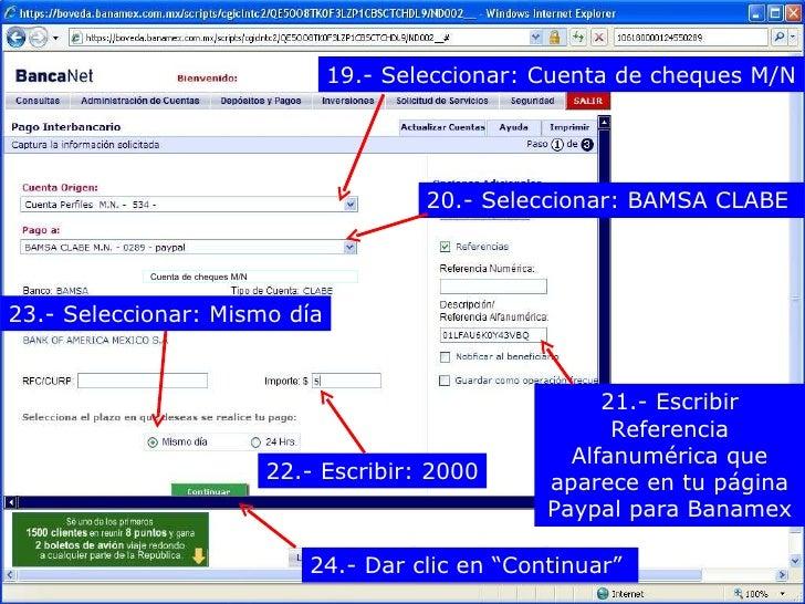 Numero De Ruta Banca Oriental:Banca Net Banamex V2