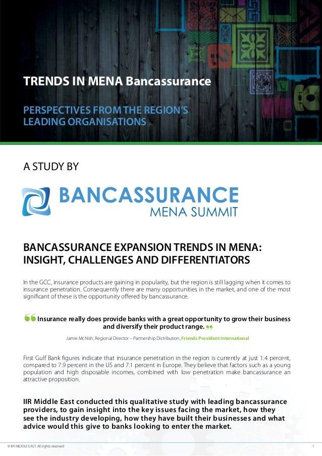 Bancassurance MENA Complimentary Report -