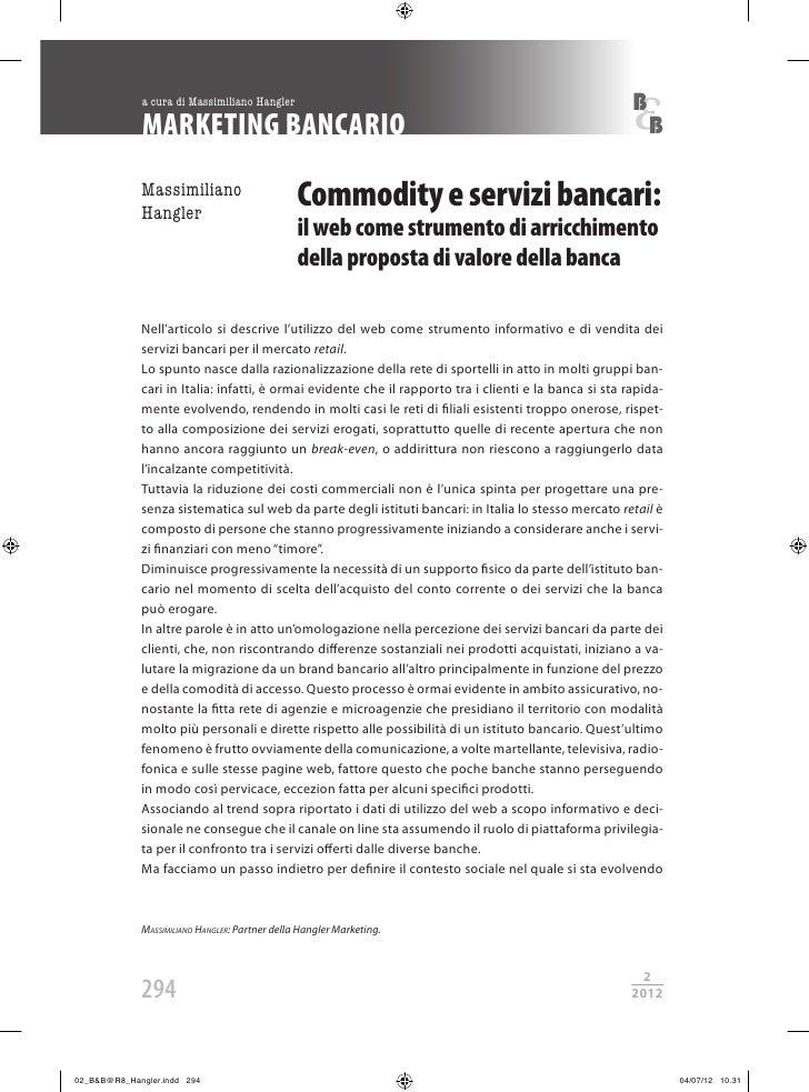 Rivista Banche e Banchieri - Il web come strumento di arricchimento della proposta di valore della banca