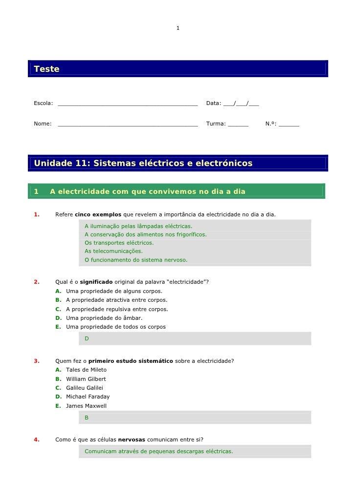 1     Teste   Escola: _________________________________________               Data: ___/___/___   Nome:   ________________...