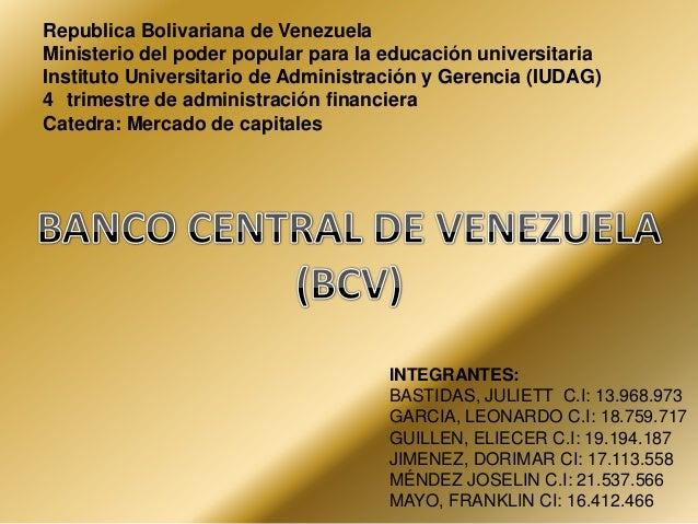 Banco central de venezuela diapositivas