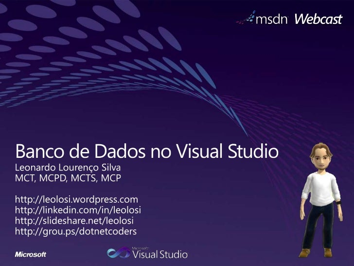 Banco de Dados no Visual Studio