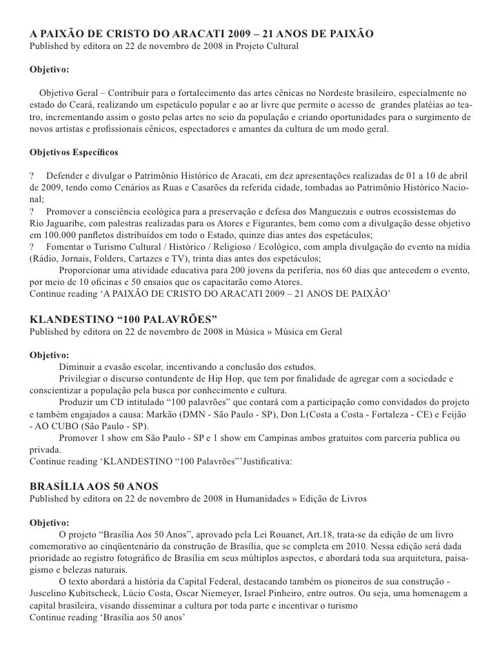Banco de Projetos Culturais » Lei Rouanet » Investir na Cultura