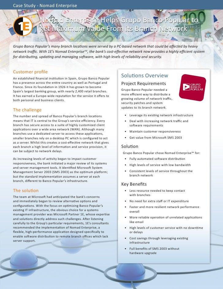 Case Study - Nomad Enterprise                  Nomad Enterprise Helps Grupo Banco Popular to                  get Maximum ...