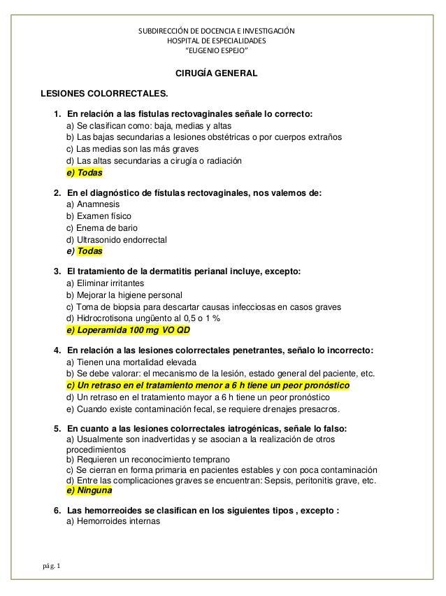 """SUBDIRECCIÓN DE DOCENCIA E INVESTIGACIÓN HOSPITAL DE ESPECIALIDADES """"EUGENIO ESPEJO"""" pág. 1 CIRUGÍA GENERAL LESIONES COLOR..."""