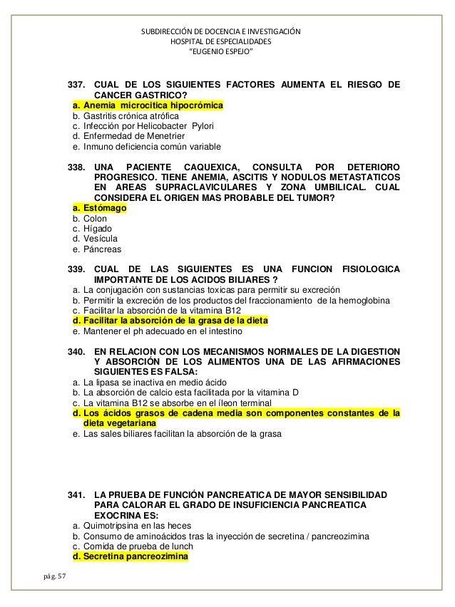 Banco preguntas espejo 2014 - Preguntas examen manipulador de alimentos ...
