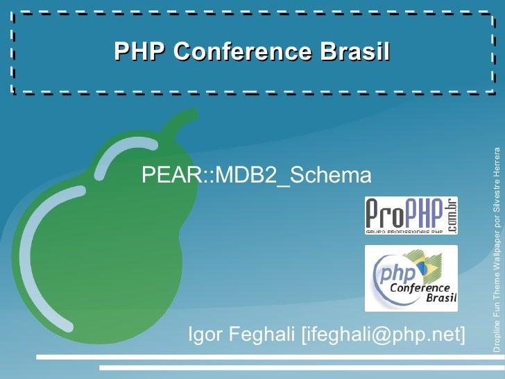 Bancos de dados portáveis em XML com PEAR::MDB2_Schema