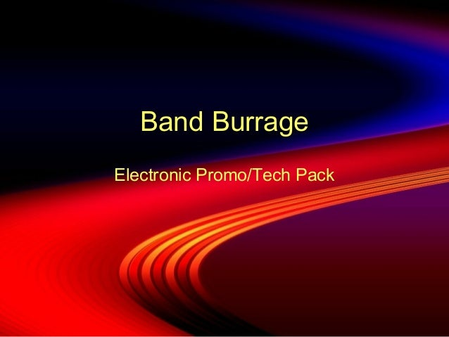 Band Burrage Electronic Promo/Tech Pack