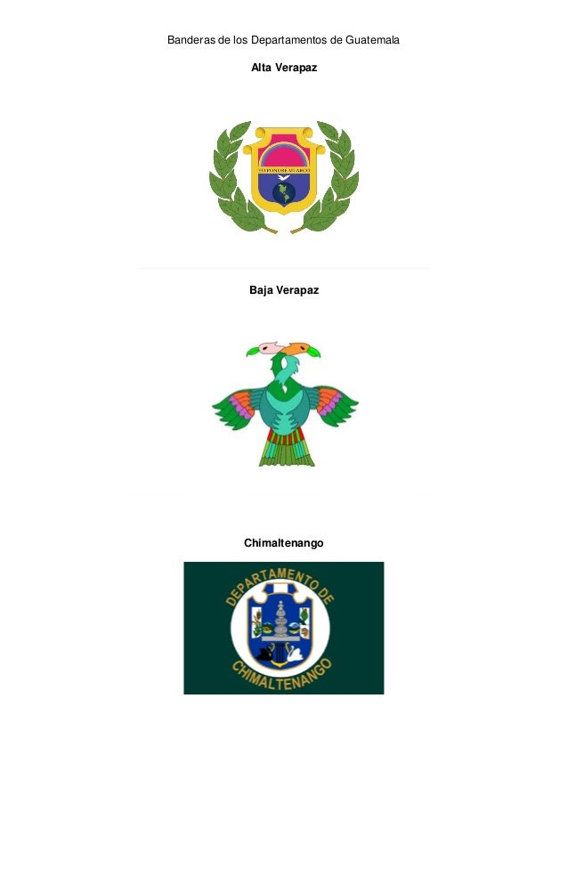 Banderas de los Departamentos de GuatemalaAlta VerapazBaja VerapazChimaltenango
