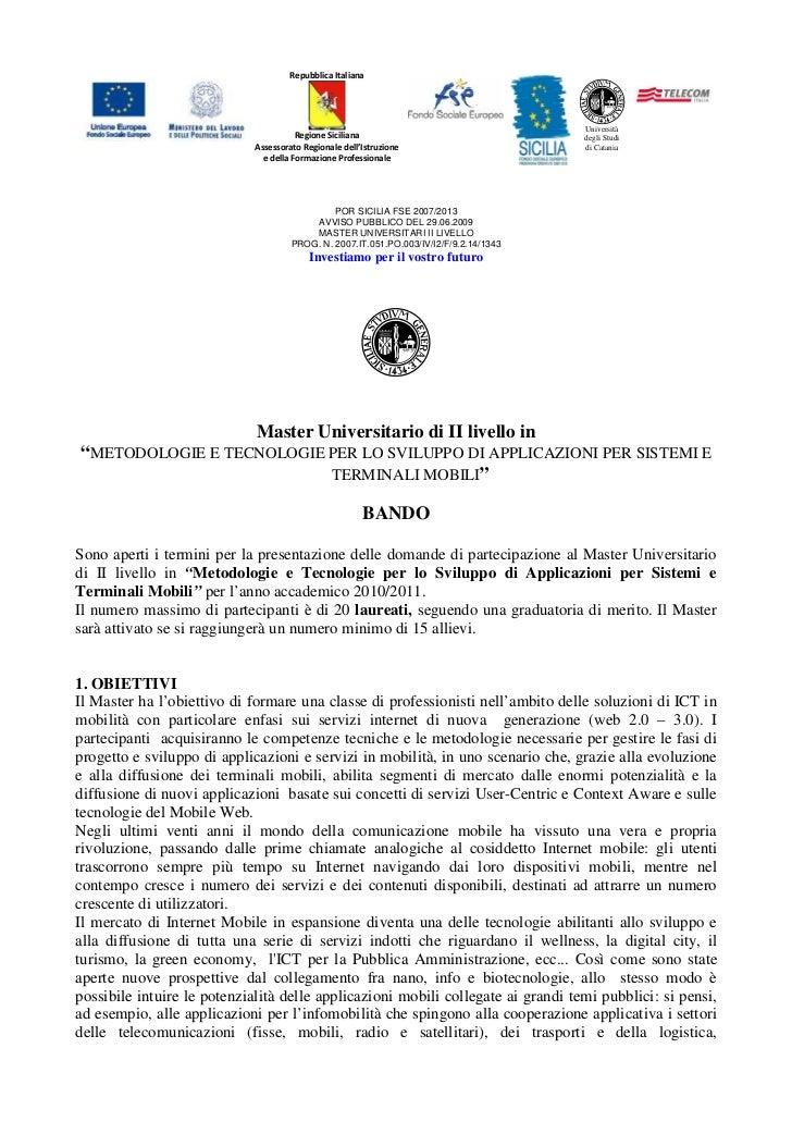 Repubblica Italiana                                                                                        Università     ...