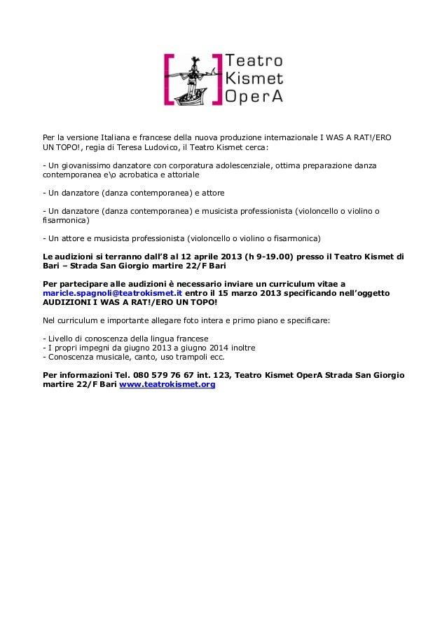 Per la versione Italiana e francese della nuova produzione internazionale I WAS A RAT!/EROUN TOPO!, regia di Teresa Ludovi...