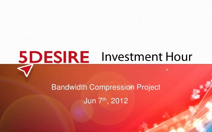 Bandwidth compression project