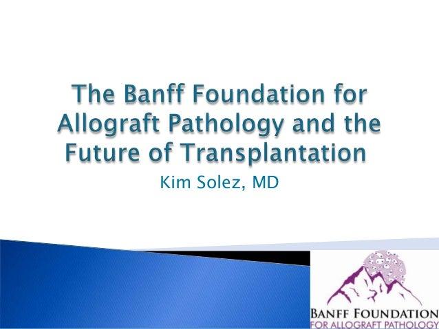 Banff foundation and future of transplantation