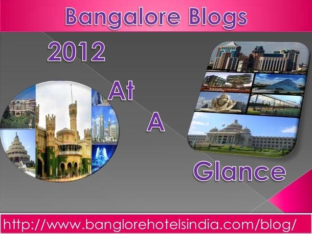 Bangalore Blogs 2012 at a Glance