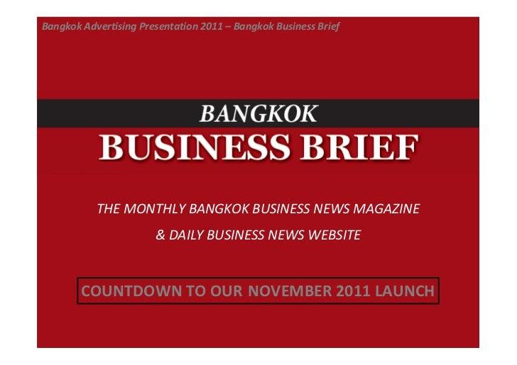 Bangkok Business Brief - Advertising Presentation.