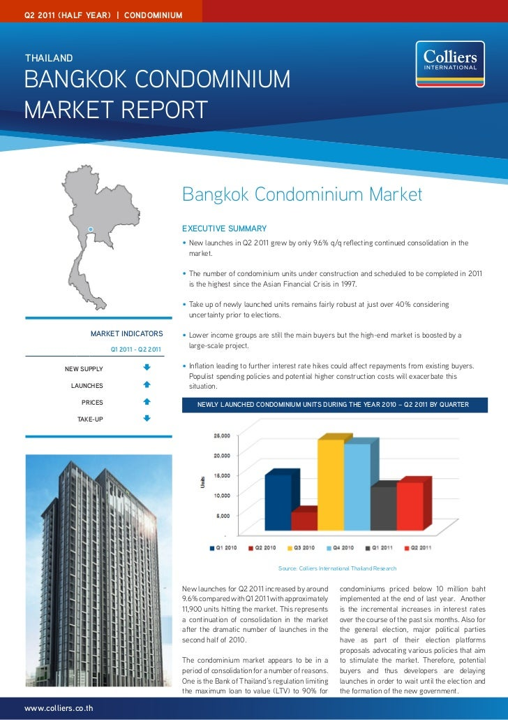 Colliers Bangkok Condominium Report Q2 2011 (Half Year)