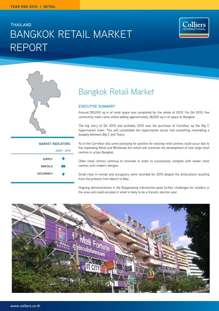 year end 2010 | reTaILthailandBangkok Retail MaRketRePoRt                                             Bangkok Retail Marke...