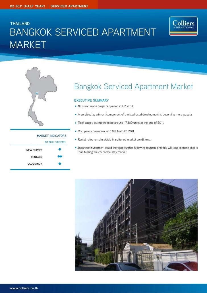 Q2 2011 (half year)   SerVICeD aParTMeNTThAilAndBangkok Serviced apartmentmarket                                          ...