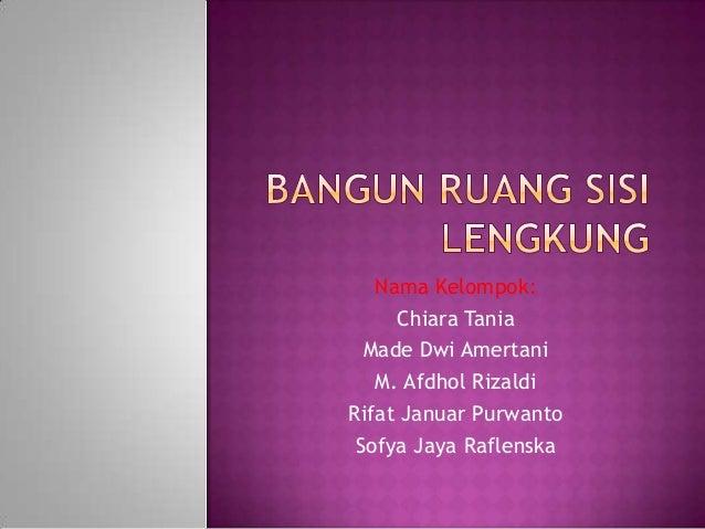 Nama Kelompok: Chiara Tania Made Dwi Amertani M. Afdhol Rizaldi Rifat Januar Purwanto Sofya Jaya Raflenska