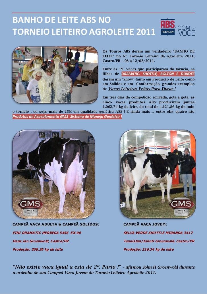 Banho de leite ABS torneio leiteiro Agroleite 2011