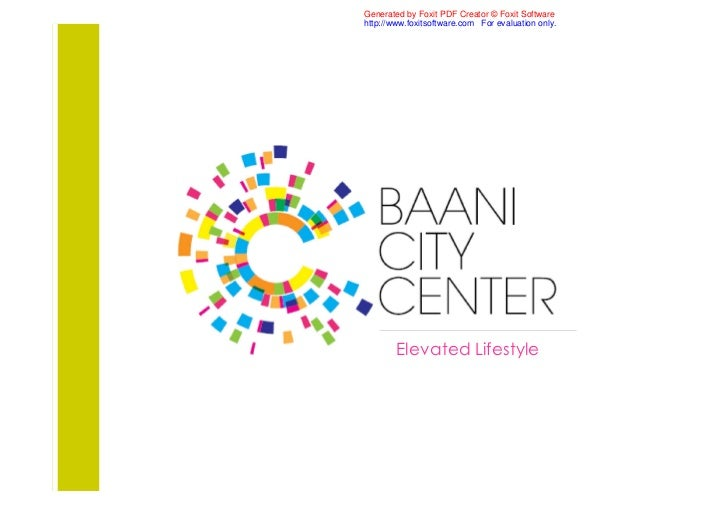 Bani city center commercial project gurgaon 9811 822 426