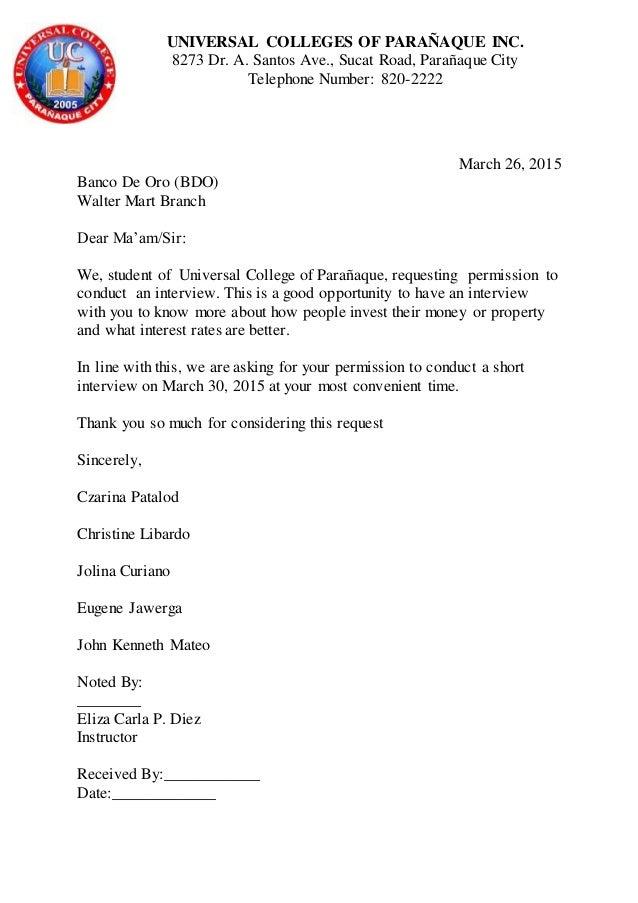 Dissertation Request Letter