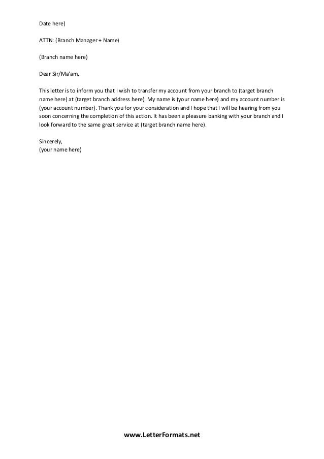 28 Account Closing Letter For Pnb Bank