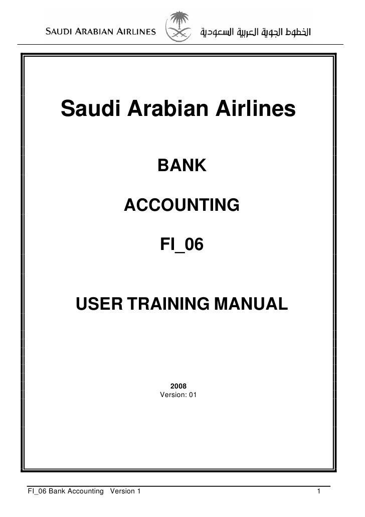 Saudi Arabian Airlines                                  BANK                          ACCOUNTING                          ...