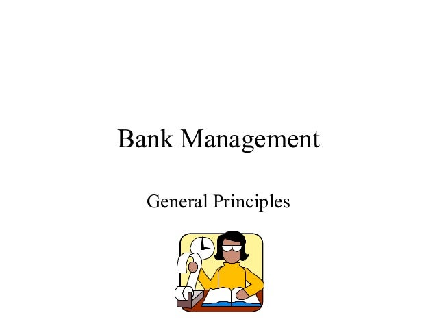 Bank Management General Principles