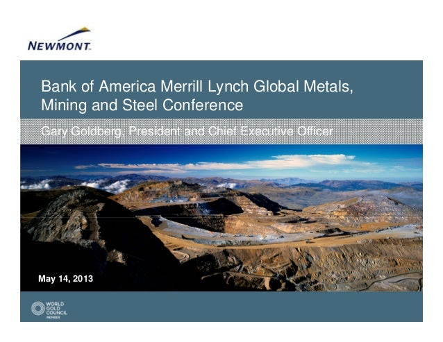 Bank of America Merrill Lynch Global Metals,Mining and Steel ConferenceMay 14, 2013Gary Goldberg, President and Chief Exec...