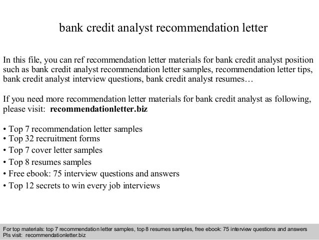 Cover Letter Bank Analyst] Bank Credit Analyst Cover Letter