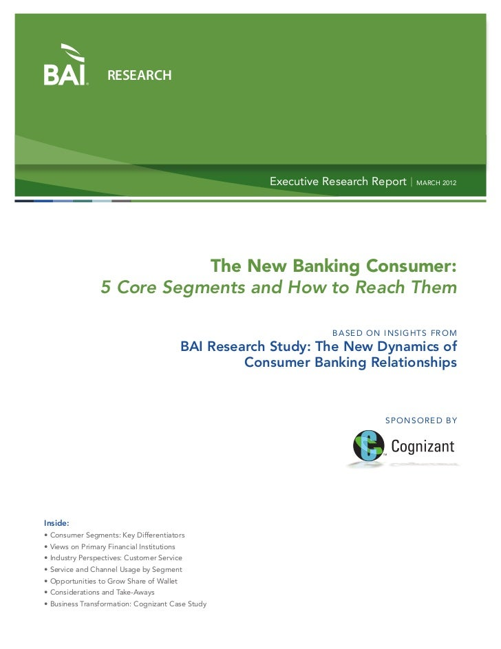 Banking Consumers: 5 Core Segments and How to Reach Them