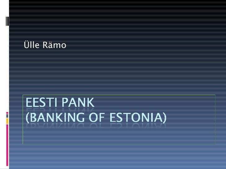 Banking Of Estonia1