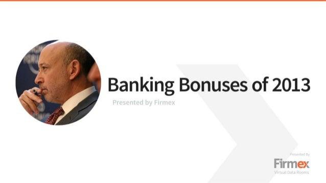Banking Bonuses of 2013